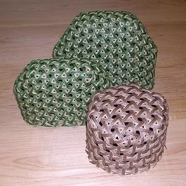 六角籠目と鉄線編み