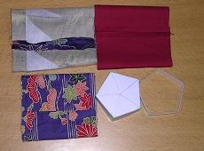 五角ねじり布香合(木綿)材料